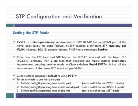 CCNA R&S-13-Spanning Tree Protocol Implementation