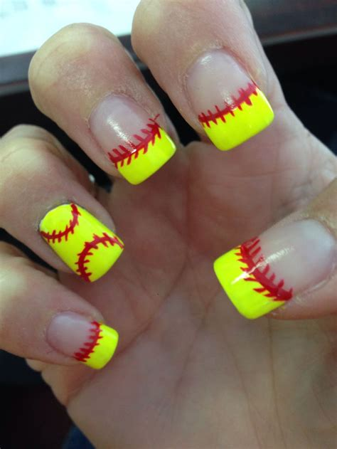 17 Best images about Softball Nails on Pinterest | Nail