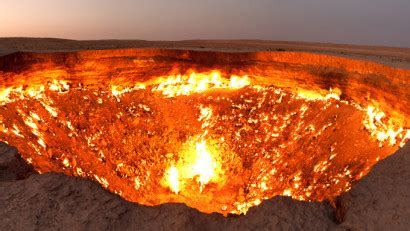 Tour The Man-Made Crater That's Been Burning For More Than
