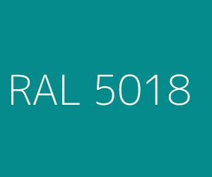Colour RAL 5018 / Turquoise blue (Blue shades)   RAL