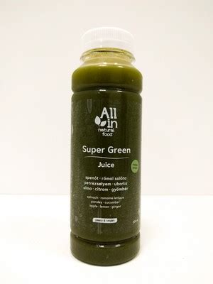 Super Green juice 300ml – ALL IN natural food – Paleo