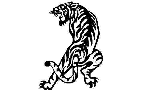 Tiger dxf File Free Download - 3Axis