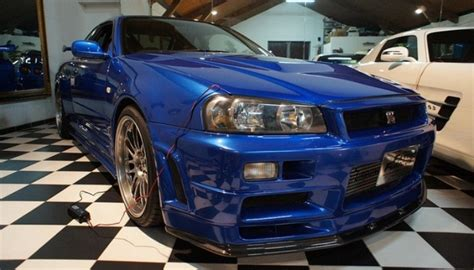 Paul Walker's Fast And Furious R34 Nissan GT-R Up For Sale