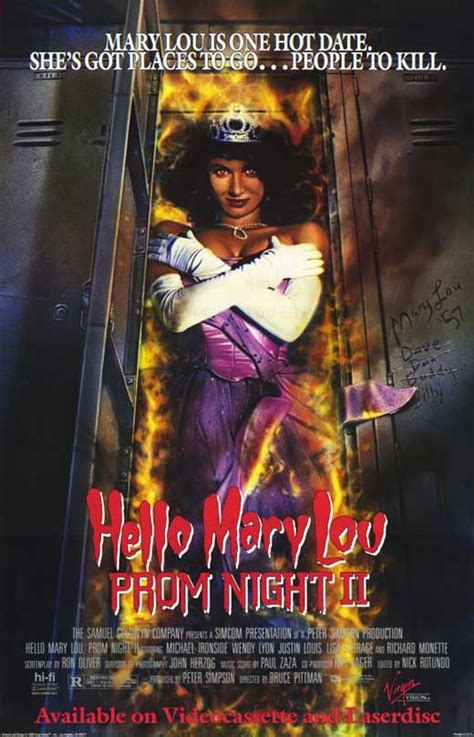 Hello Mary Lou: Prom Night 2 Movie Posters From Movie