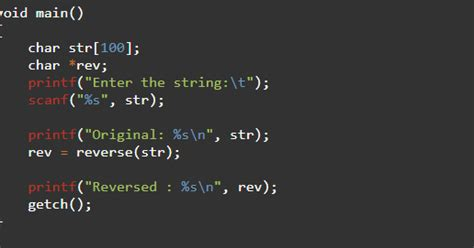 Code to Reverse a String in C language - TeachMeIDEA - by