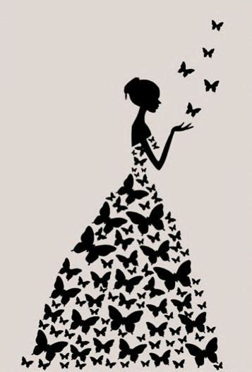 butterfly dress, pretty, and wallpapers afbeelding