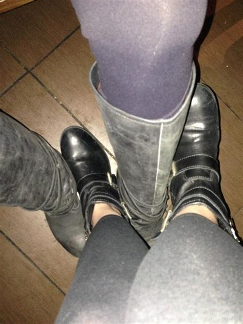 Playing footsie under the table with Stas