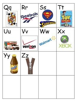 Alphabet Sound Chart with Brand Logos by Library Castle | TpT