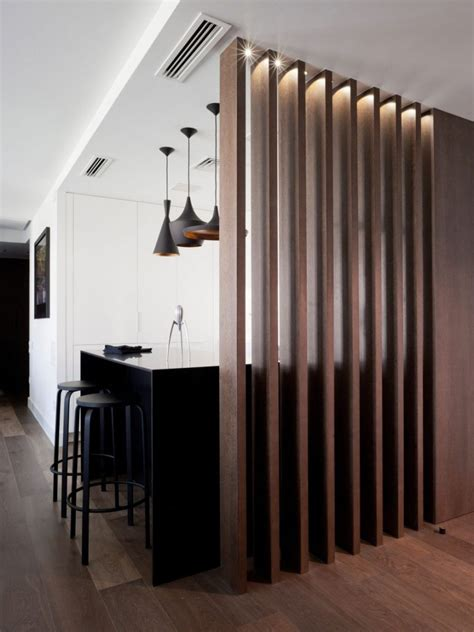 Wood Slat Room Dividers To Add Warmth To Your Home