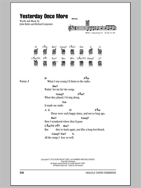 Yesterday Once More   Sheet Music Direct