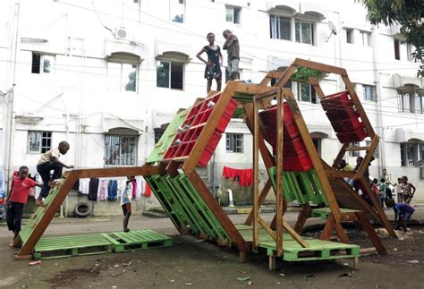 Self-Made Playgrounds from Recycled Materials, Basurama